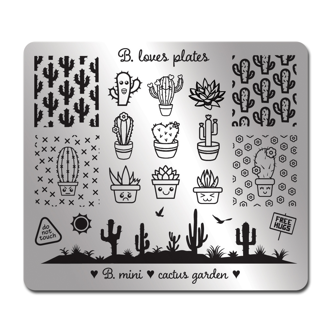 B-loves-plates-B-mini-cactus-garden-plytki-do-stempli-stamping-square